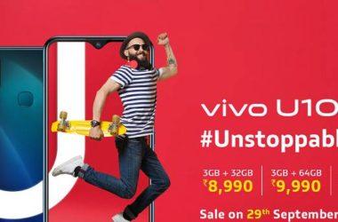 Vivo u10 Price in india