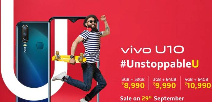 Vivo u10 Price in india