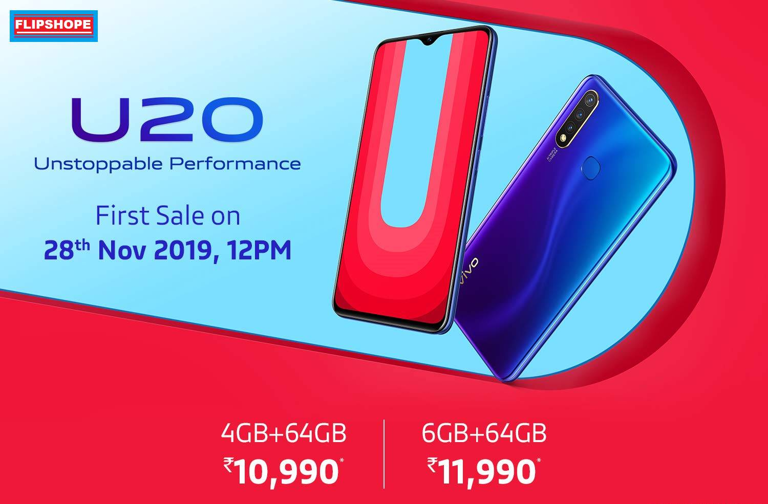 Vivo U20 Price in India, Specifications, Launch date