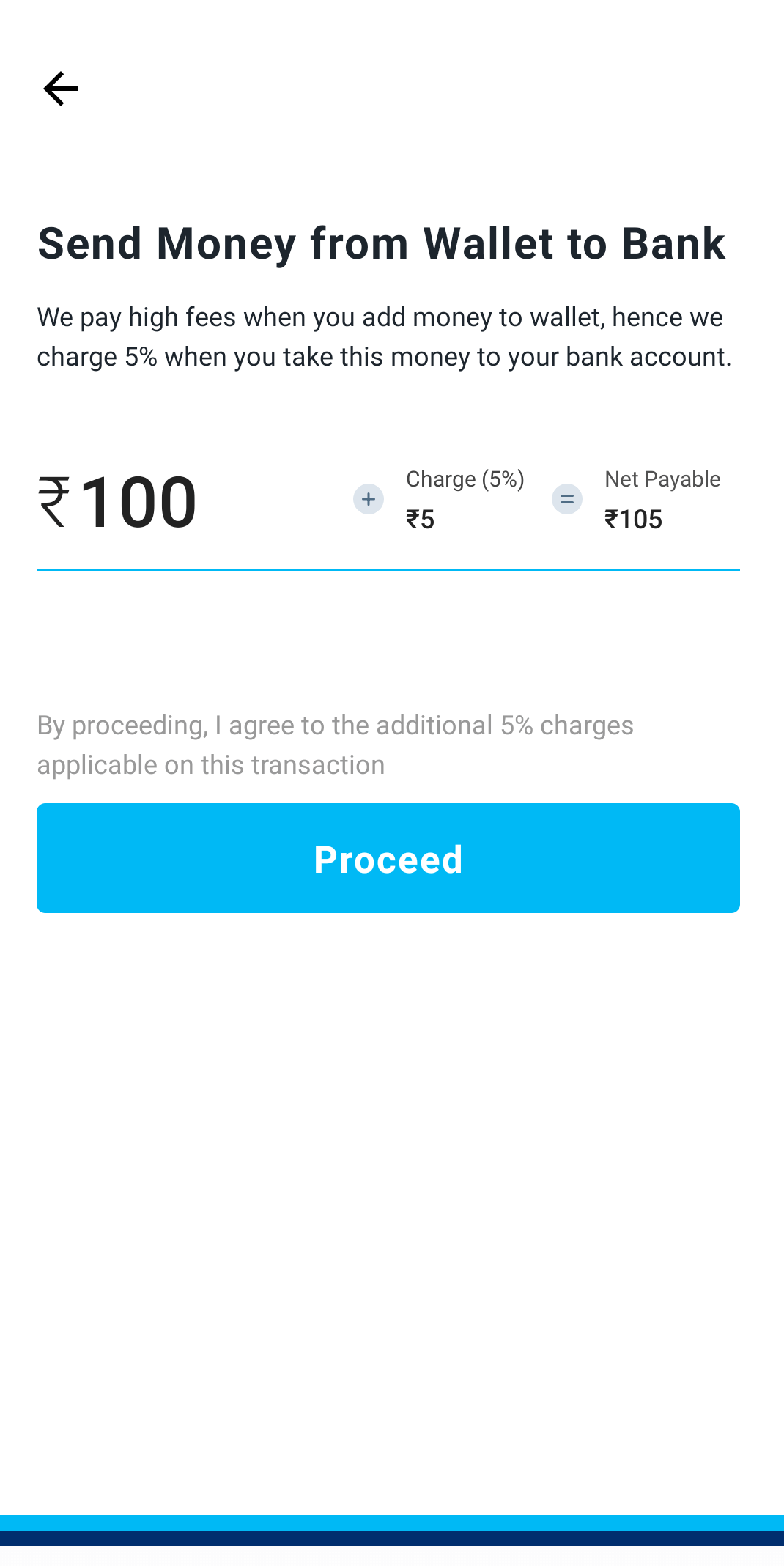 paytm enter amount to send