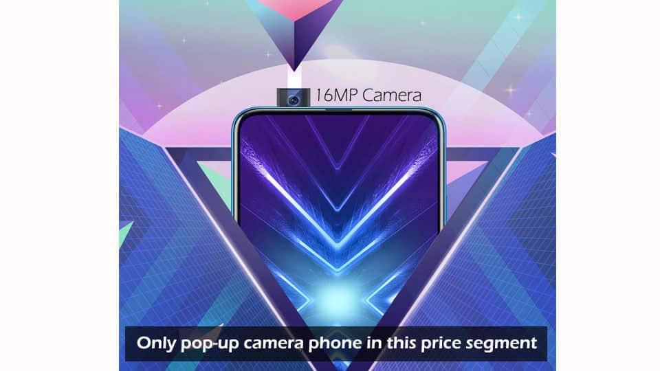 Huawei 9X Popup Camera