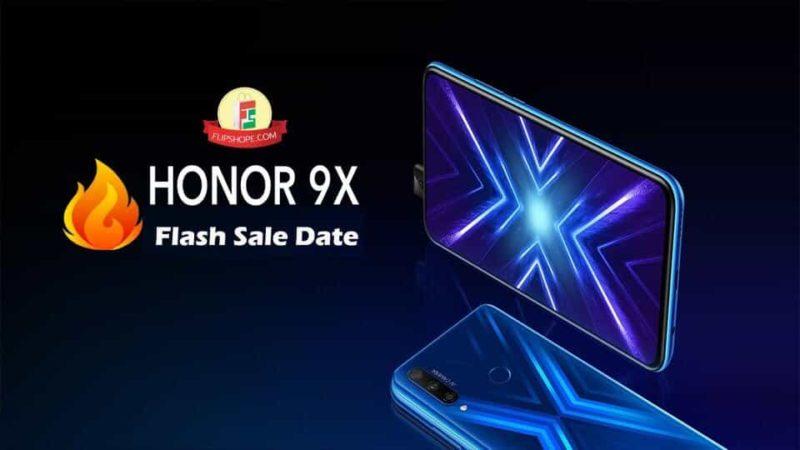 honor 9x flash sale date