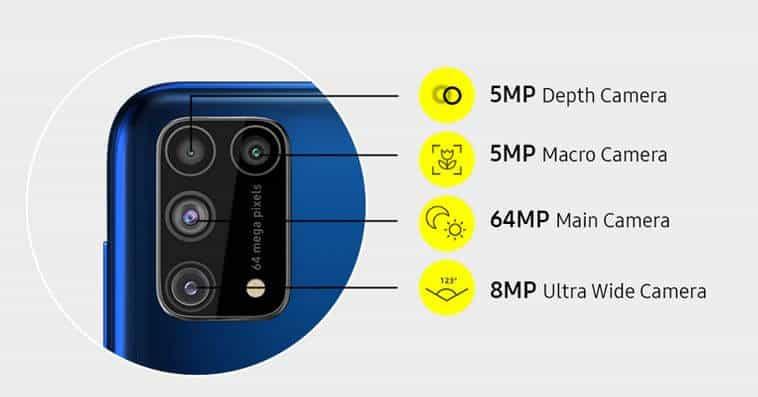 Samsung M31 camera