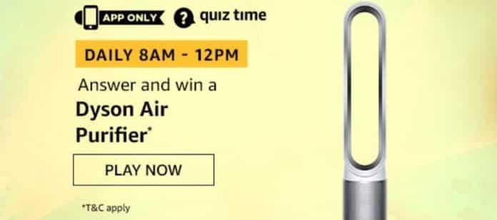 Amazon Quiz Answers Win Dyson Air Purifier