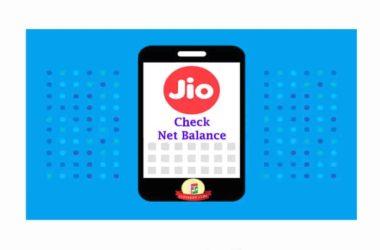 Jio net balance check number