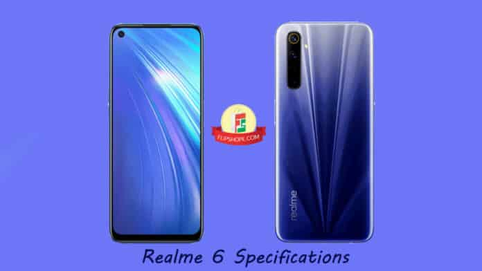 Realme 6 specifications in India