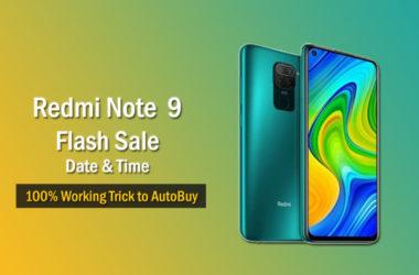 Redmi Note 9 Flash Sale Date