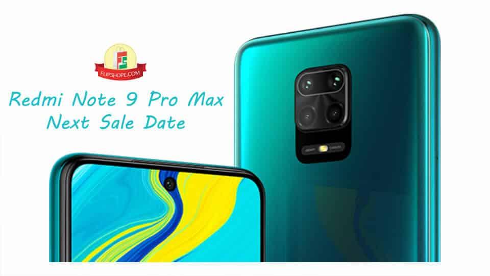 Redmi Note 9 Pro Max next sale date