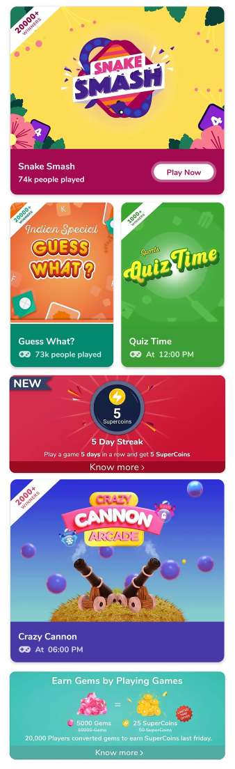 Flipkart Super Coin Games