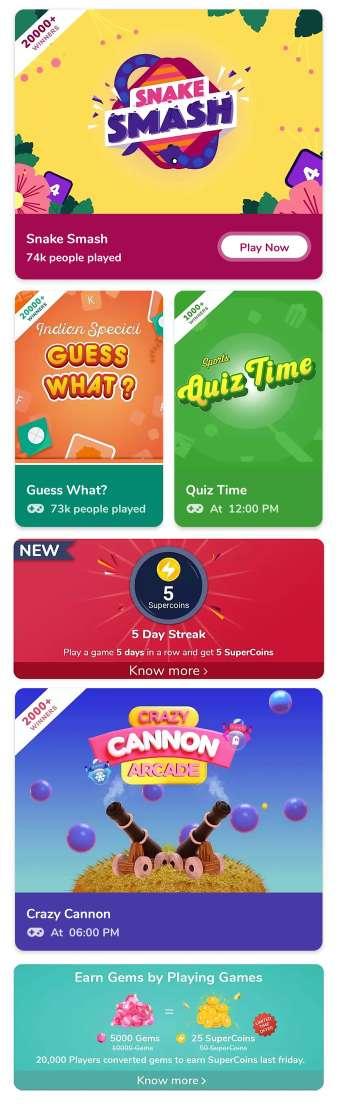 Flipkart Super Coin Games