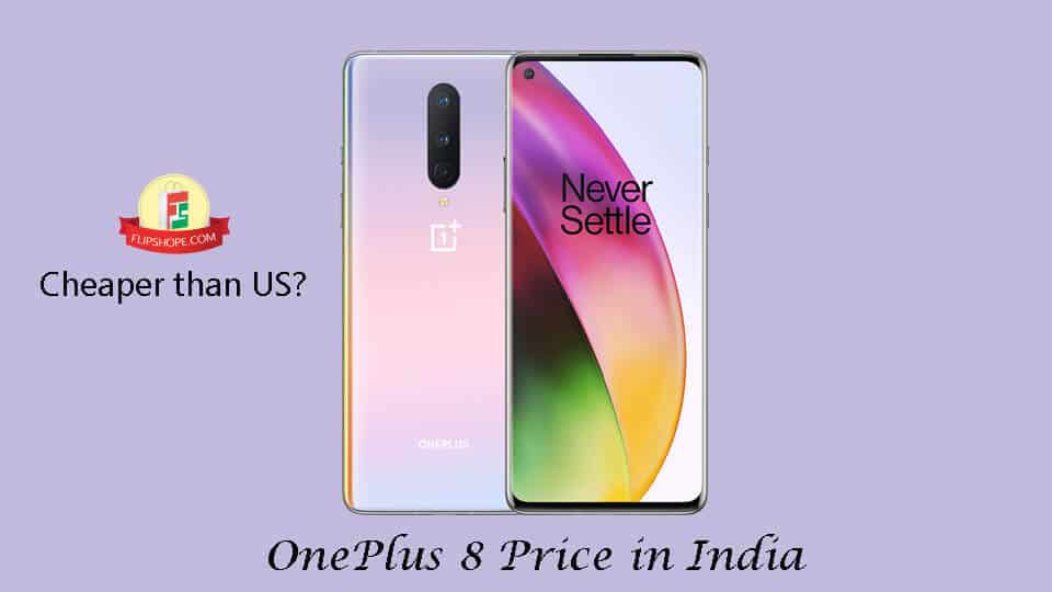 OnePlus 8 price in India