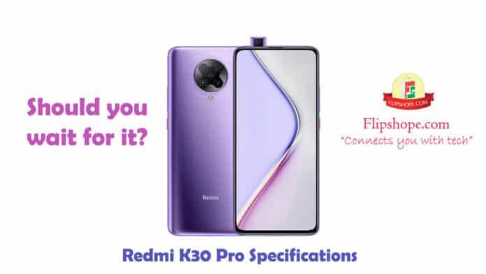 Xiaomi Redmi K30 Pro Specifications