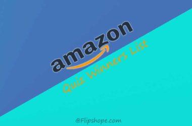 Amazon Quiz Winners Result List