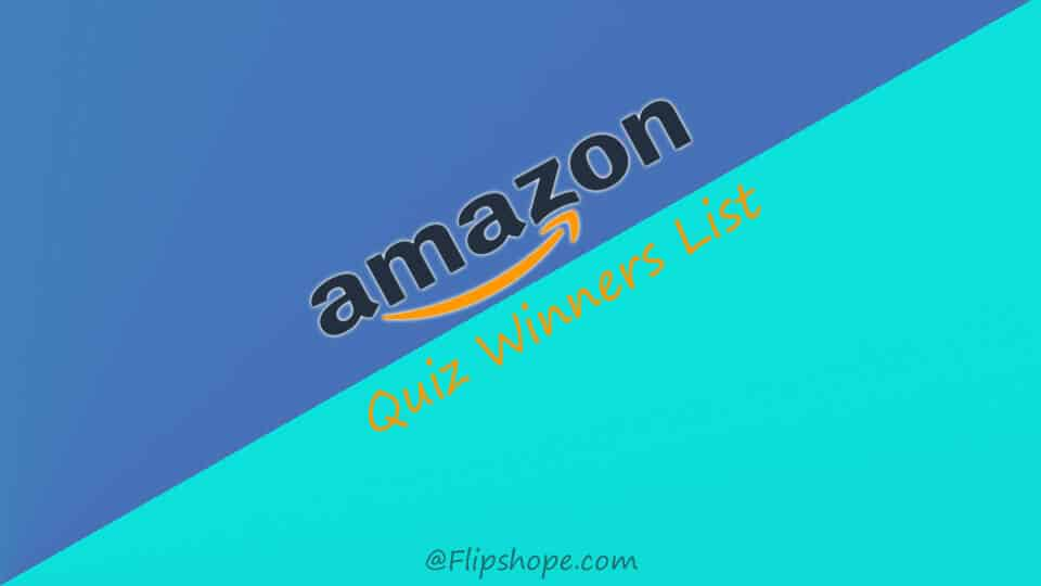 Amazon Quiz Winners Result List