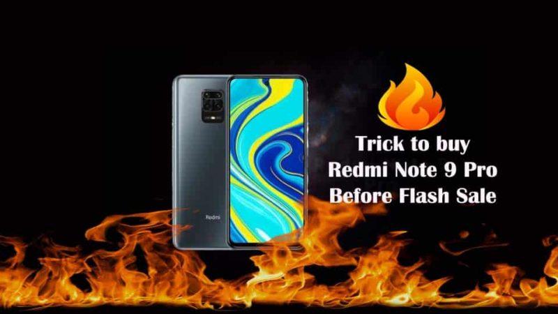 Buy Redmi Note 9 Pro Before Flash Sale