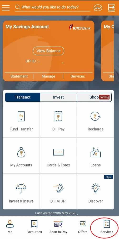 ICICI Bank Cardless option