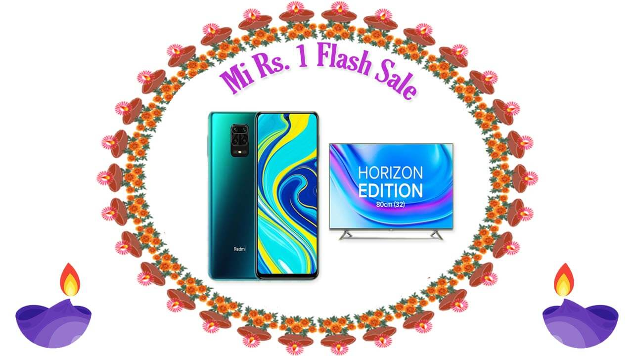 Mi Rs. 1 flash sale