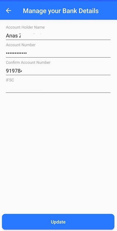SnaPay Bank Details