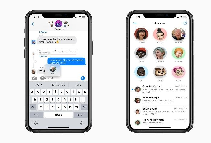Apple iOS 14 Update messages