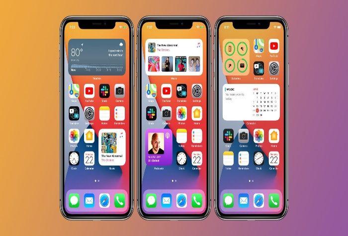Apple iOS 14 Update widgets