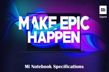 Mi Notebook Specifications