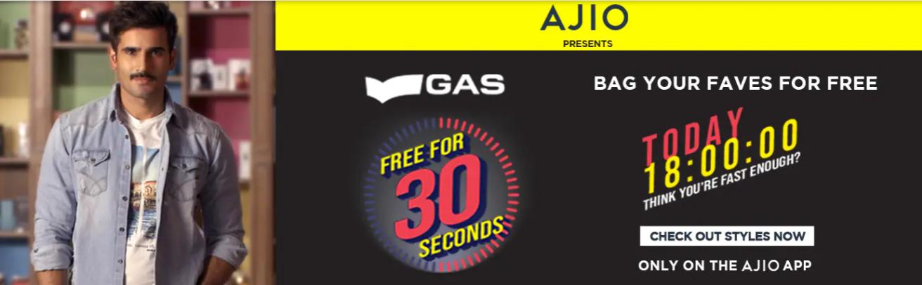 GAS 30 Second Sale