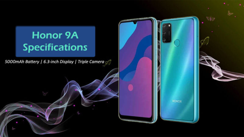Honor 9A Specifications