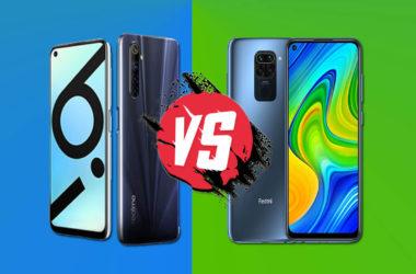 Realme 6i and Redmi Note 9 comparison