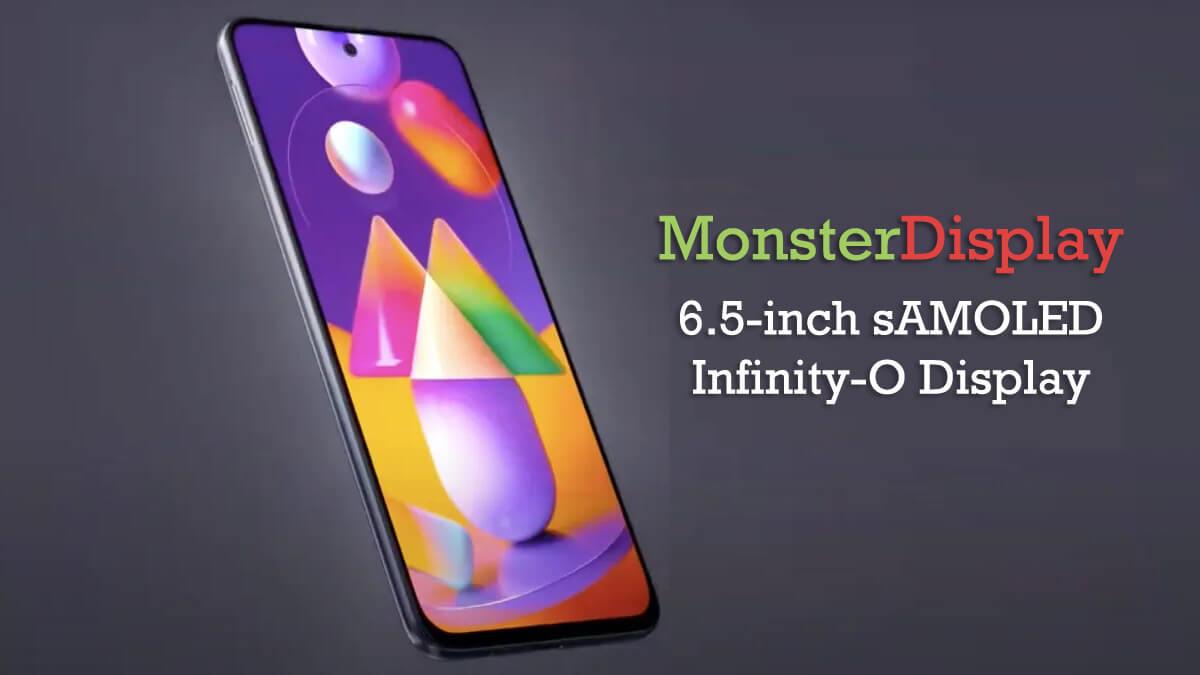 Samsung Galaxy M31s display