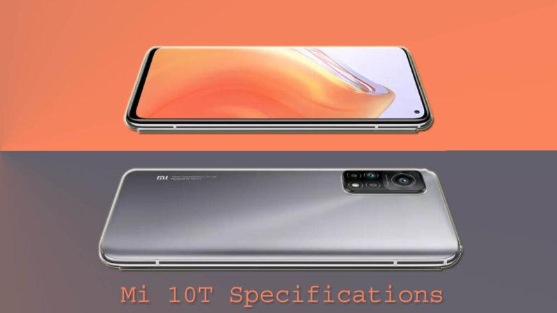Mi 10T Specifications