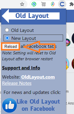 get new to old and old to new facebook layout with in secouds