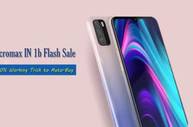 Micromax IN 1b flash sale