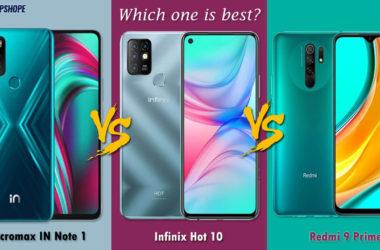 Micromax IN Note 1 vs Infinix Hot 10 Comparison