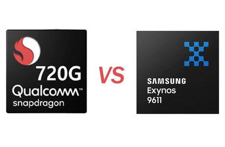 Snapdragon 720G vs Exynos 9611
