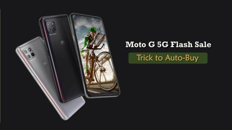 Moto G 5G flash sale date
