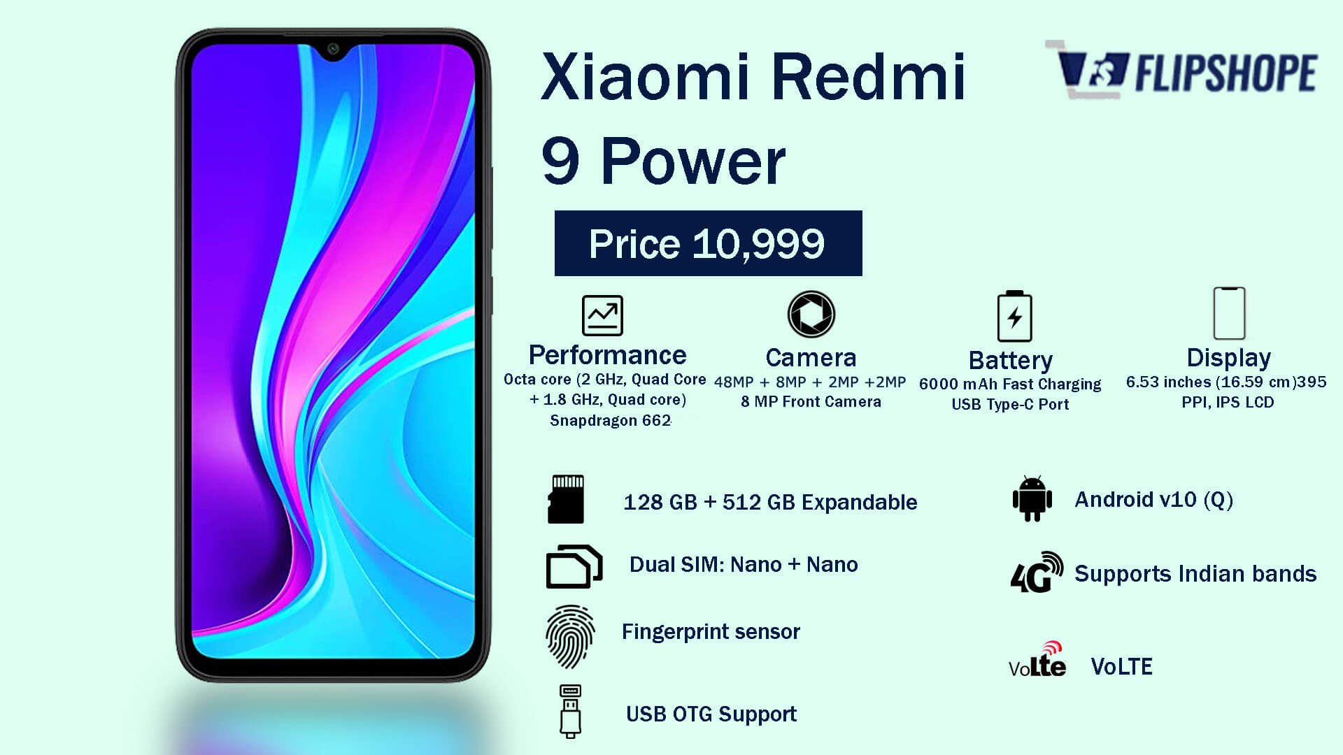 Xiaomi Redmi 9 Power Specifications