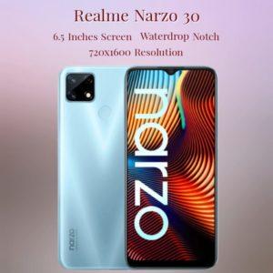 Realme Narzo 30 Body and Display Specs