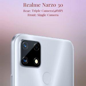 Realme Narzo 30 Camera Specs