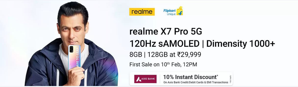 Realme X7 Pro Flash Sale Date - Bank Offers