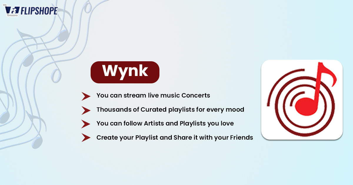 Best Music apps in India(Wynk)