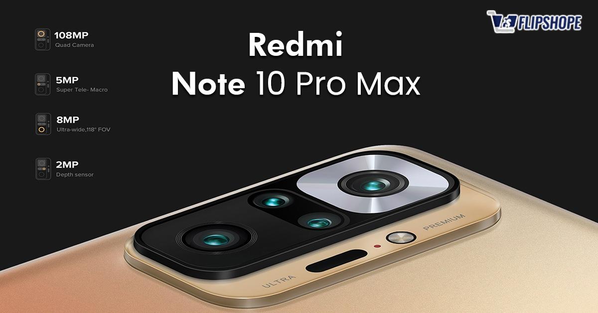 Redmi Note 10 Pro Max Specs for Camera