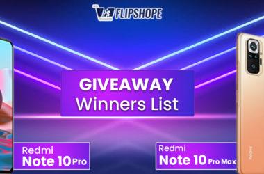 redmi note 10 pro max giveaway winners list