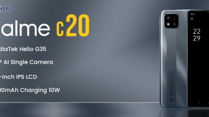 realme c20 Specifications