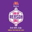 myntra end of reason sale 2021 july offers