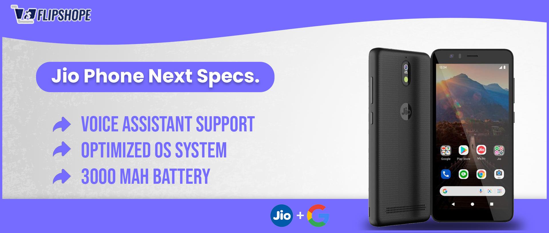 jio phone next specs