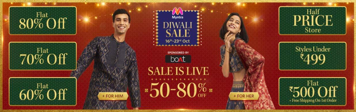 Myntra Diwali sale 2021