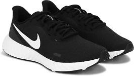 NIKE Revolution 5 Running Shoes For Men (Black)