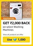 Amazon Diamonds Washing Machine Offer
