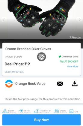 droom sale gloves